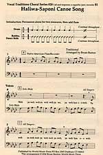 Haliwa-Saponi Canoe Song