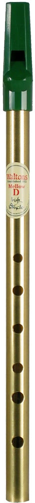 Waltons Irish Mellow D Whistle, Brass